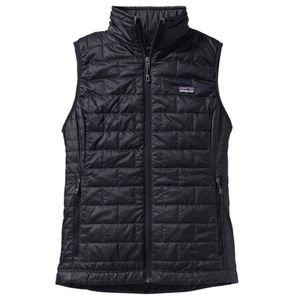 NEW Patagonia Nano Puff Vest Size L Black Womens